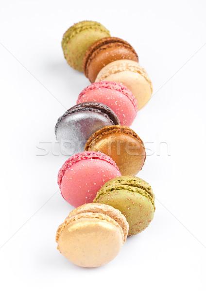 Foto stock: Francês · luxo · colorido · macarons · sobremesa · bolos