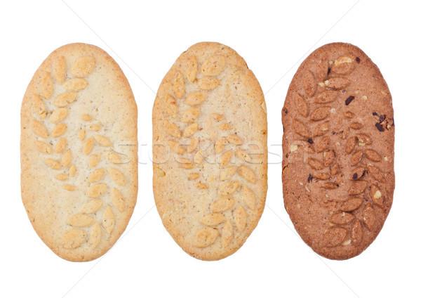 Healthy bio breakfast grain biscuits on white Stock photo © DenisMArt