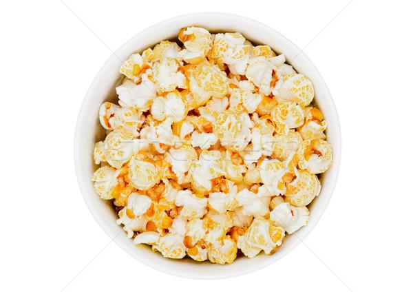 Popcorn salty sweet snack in white bowl  Stock photo © DenisMArt