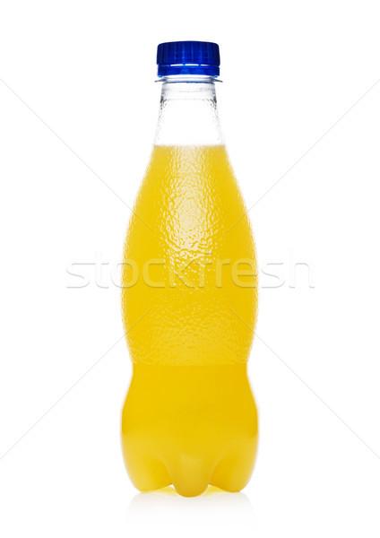 пластиковых бутылку оранжевый мягкой соды пить Сток-фото © DenisMArt