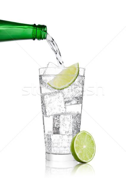 レモネード ソーダ ドリンク ボトル ガラス ストックフォト © DenisMArt