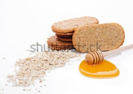 Egészséges bio reggeli gabona kekszek egészség Stock fotó © DenisMArt