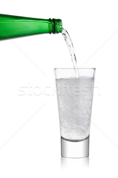Limonada sosa beber botella vidrio Foto stock © DenisMArt