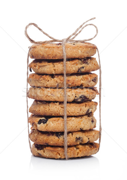 Gluten free oatmeal chocolate cookies with rasins Stock photo © DenisMArt