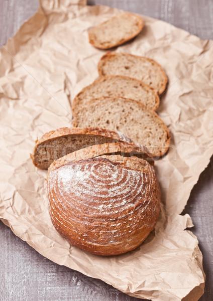 Pâine paine piese lemn Imagine de stoc © DenisMArt