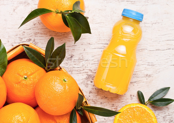 пластиковых бутылку сырой органический свежие апельсиновый сок Сток-фото © DenisMArt