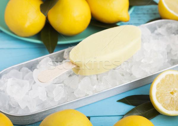 Ice cream made from lemon frozen juice sherbet  Stock photo © DenisMArt