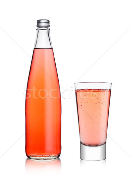Bouteille verre rose soude limonade Photo stock © DenisMArt