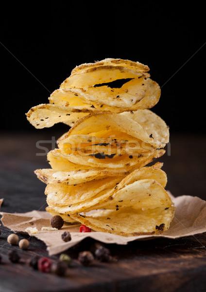 Croccante pepe patate chip Foto d'archivio © DenisMArt