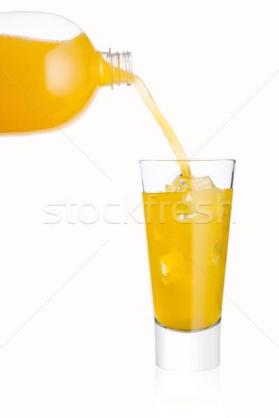 áramló narancs üdítő ital üveg üveg Stock fotó © DenisMArt