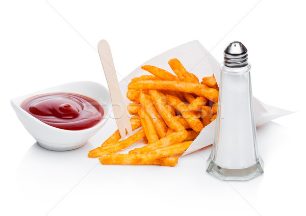 Zuidelijk zout ketchup papier container Stockfoto © DenisMArt