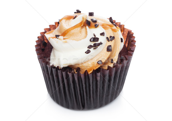 Frescos muffin caramelo chocolate blanco Foto stock © DenisMArt