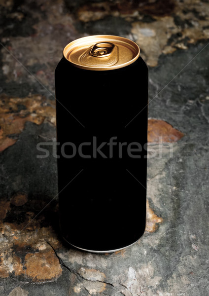 Aluminium can of stout beer top with on stone Stock photo © DenisMArt