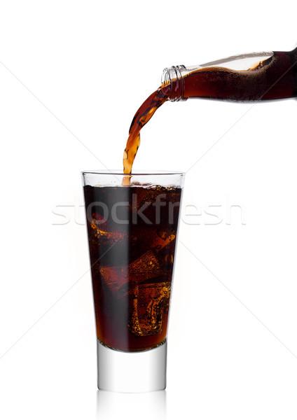 áramló kóla üdítő ital üveg üveg Stock fotó © DenisMArt