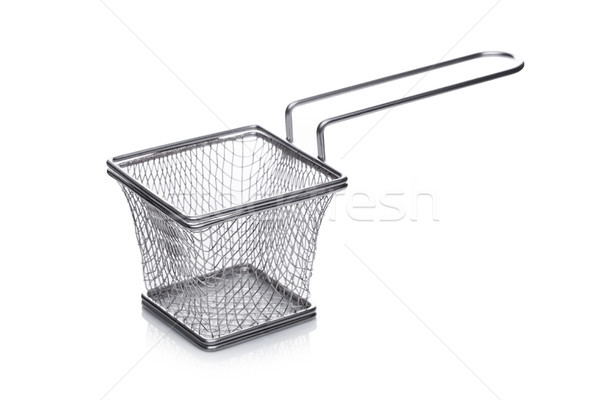 Stainless steel basket for french fries snack Stock photo © DenisMArt