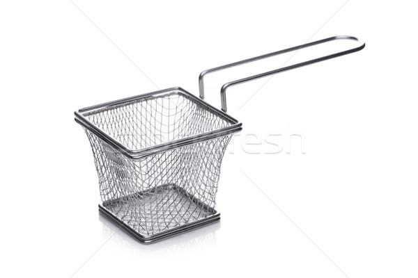 Aço inoxidável cesta branco comida Foto stock © DenisMArt