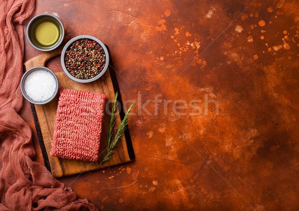 Ev yapımı sığır eti et baharatlar otlar Stok fotoğraf © DenisMArt