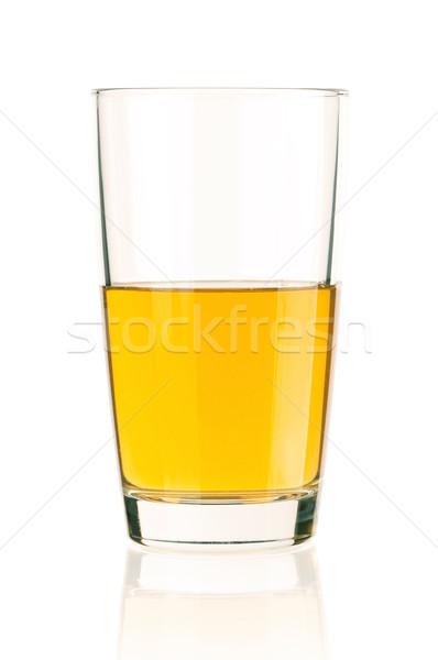 リンゴジュース ガラス 孤立した 白 春 食品 ストックフォト © DenisNata