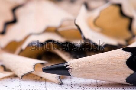 Preto lápis madeira papel livro escolas Foto stock © DenisNata