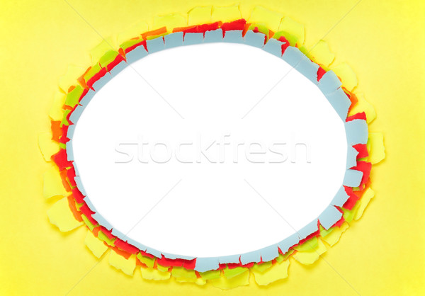 Hole in paper Stock photo © DenisNata