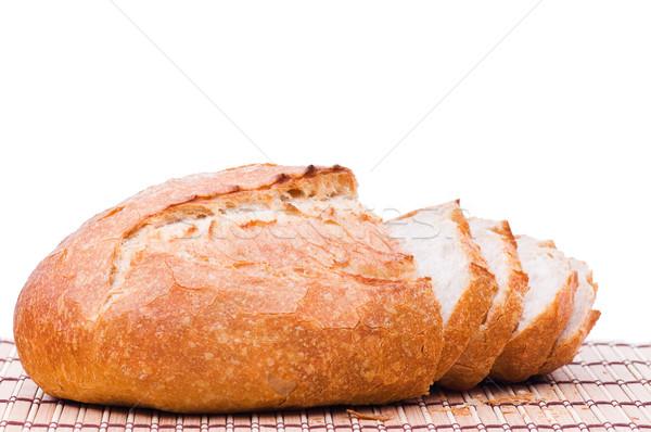 Trigo pão isolado branco alimentação Foto stock © DenisNata