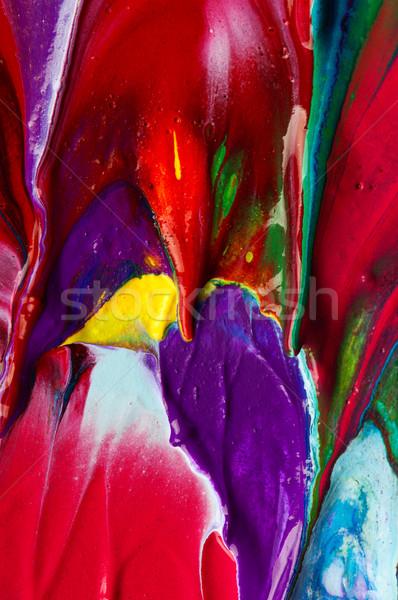 Abstrato quadro pintado lona textura projeto Foto stock © DenisNata