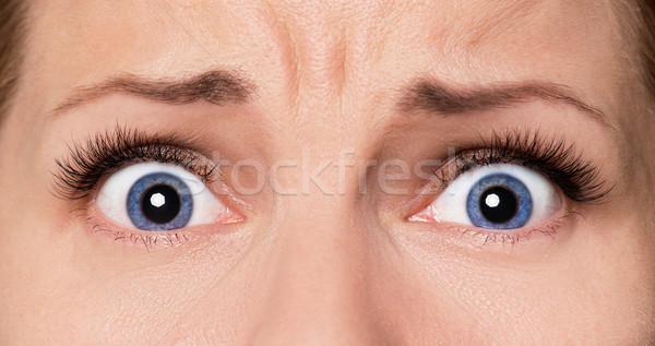 顔 女性 目 クローズアップ 怖い ストックフォト © DenisNata