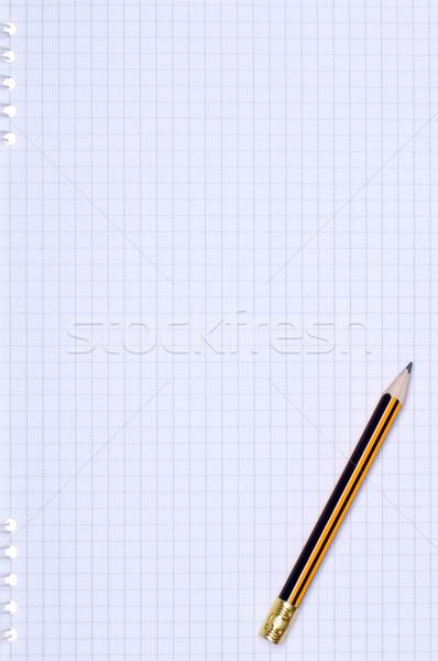Lápis papel imagem livro madeira Foto stock © DenisNata