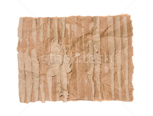 Piece of corrugated cardboard Stock photo © DenisNata