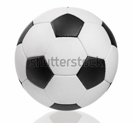 Clássico futebol isolado branco textura esportes Foto stock © DenisNata