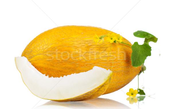 Melão maduro fresco delicioso isolado branco Foto stock © DenisNata