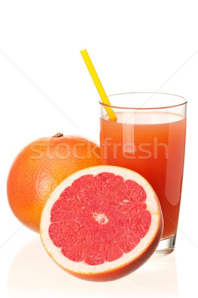 Suco de laranja vidro fresco toranja suco frutas Foto stock © DenisNata