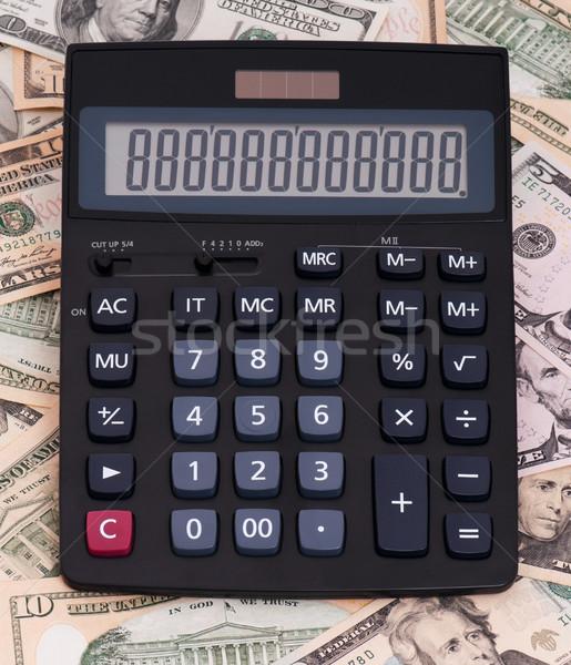 Calculadora dinheiro computador papel cor sucesso Foto stock © DenisNata
