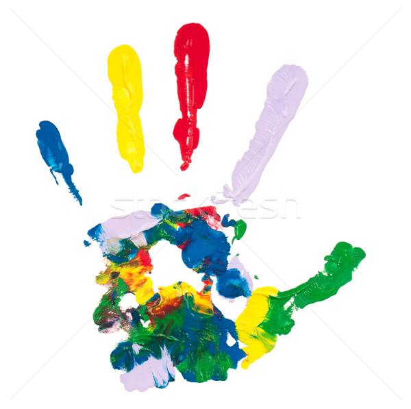 Colorido mão pintado isolado branco Foto stock © DenisNata