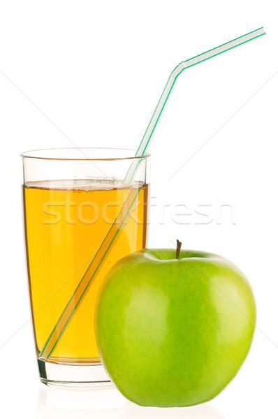 リンゴジュース ガラス 孤立した 白 春 夏 ストックフォト © DenisNata
