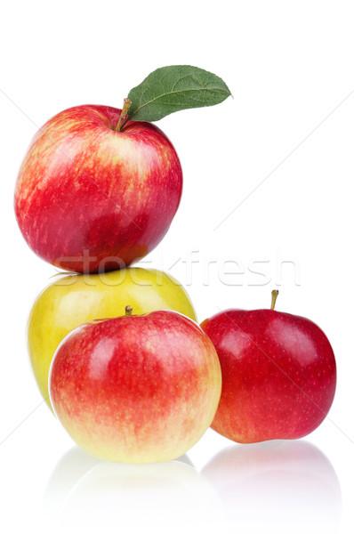 Fresco maçã maduro vermelho amarelo maçãs Foto stock © DenisNata