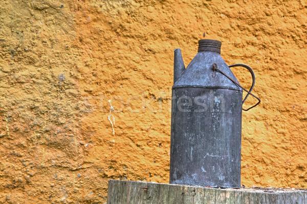 Landelijk foto brand muur licht groene Stockfoto © Dermot68