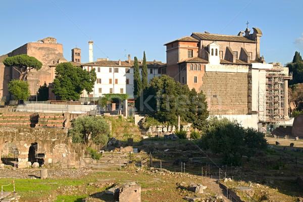 Rome ruines foto onderdelen huis kerk Stockfoto © Dermot68
