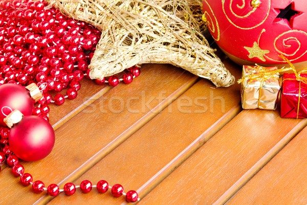Christmas tabel foto detail geschenk behang Stockfoto © Dermot68