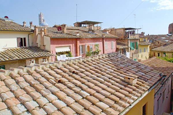 Toscana cidade foto geral ver edifício Foto stock © Dermot68
