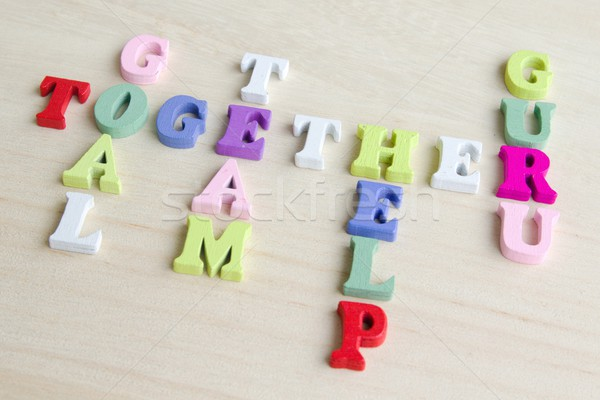 Grappig brieven kruiswoordraadsel puzzel teken foto Stockfoto © Dermot68