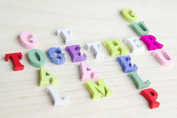 Engraçado cartas palavras cruzadas quebra-cabeça assinar foto Foto stock © Dermot68