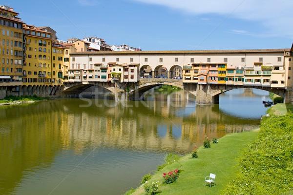 Florence rivier bank foto algemeen Stockfoto © Dermot68