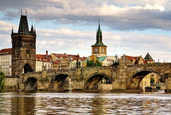 Cidade ponte ver foto rio velho Foto stock © Dermot68