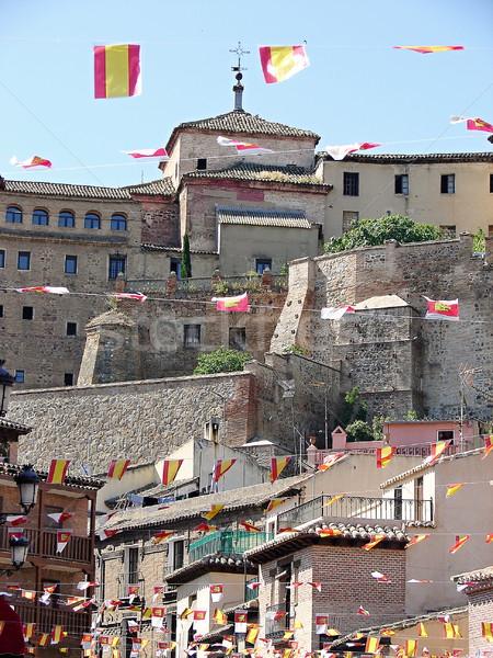 古い 城 写真 スペイン語 建物 石 ストックフォト © Dermot68
