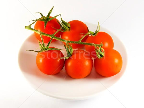 Vermelho tomates prato foto presentes detalhes Foto stock © Dermot68