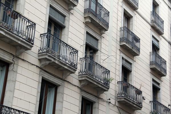 Stad Barcelona Spanje foto laat zomer Stockfoto © Dermot68
