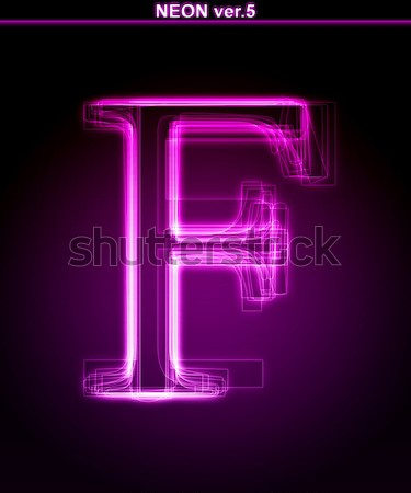 Neon letter l helling kleur doopvont vector Stockfoto © Designer_things