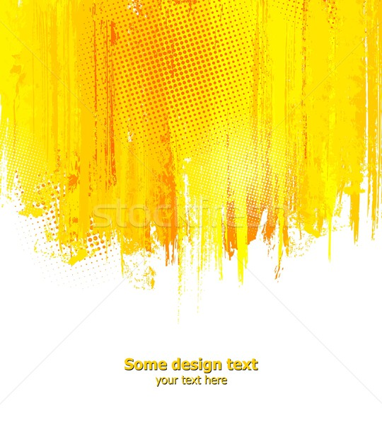 Orange abstrakten malen Spritzer Illustration Vektor Stock foto © Designer_things