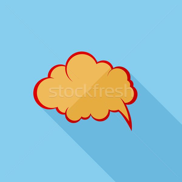 Stockfoto: Komische · toespraak · retro · logo · ontwerp · kunst